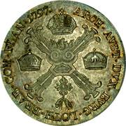 Belgium 1/2 Kronenthaler KM# 61.2 Standart Coinage ARCH AVST DVX BVRG LOTH BRAB COM FLAN 1797 coin reverse