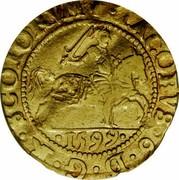 UK 1/2 Rider 1601 KM# 17 Scotland IACOBVS 6 D G R SCOTORVM 1599 coin obverse