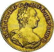 Belgium 1/2 Souverain D'or 1756 (h) R KM# 17 Trade Coinage coin obverse