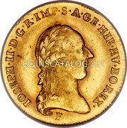Belgium 1/2 Souverain D'or 1787 F KM# 35 Trade Coinage coin obverse