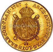 Belgium 1/2 Souverain D'or 1787 F KM# 35 Trade Coinage coin reverse