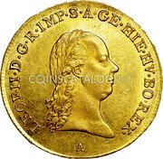 Belgium 1/2 Souverain D'or 1791 A KM# 55 Trade Coinage coin obverse