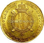 Belgium 1/2 Souverain D'or 1791 A KM# 55 Trade Coinage coin reverse