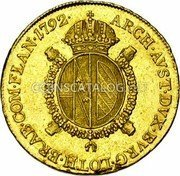 Belgium 1/2 Souverain D'or 1792 A KM# 63 Trade Coinage coin reverse