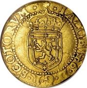 UK 1/2 Sword & Sceptre 1602 KM# 19 Scotland IACOBVS 6 D G R SCOTORVM coin obverse