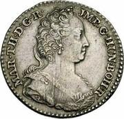 Belgium 1/4 Ducaton 1752 (h) R KM# 6 Standart Coinage MAR TH D G R JMP G HUN BOH R coin obverse