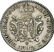 Belgium 1/4 Ducaton 1752 (h) R KM# 6 Standart Coinage ARCH AUS DUX BURG BRAB C FL 1752 coin reverse