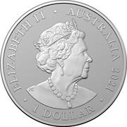 Australia 1 Dollar AC/DC 45th Anniversary 2021 Proof in Case ELIZABETH II AUSTRALIA 2021 1 DOLLAR coin obverse