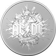 Australia 1 Dollar AC/DC 45th Anniversary 2021 Proof in Case AC/DC coin reverse