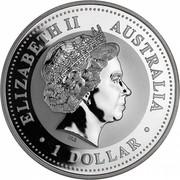 Australia 1 Dollar Kookaburra. Privy Mark Great Barrier Reef 2000 KM# 416.12 ELIZABETH II AUSTRALIA 1 DOLLAR IRB coin obverse