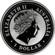 Australia 1 Dollar Kookaburra. Privy Mark September 2000 KM# 416.13 ELIZABETH II AUSTRALIA 1 DOLLAR IRB coin obverse