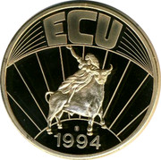 Belgium 1 ECU 1994 UNC Kingdom ECU 1994 coin reverse