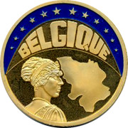 Belgium 1 ECU Kingdom BELGIQUE coin obverse