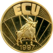 Belgium 1 ECU Kingdom ECU 1997 coin reverse