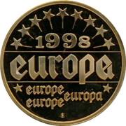Belgium 1 ECU Jean-Luc Dehaene 1998 UNC 1998 EUROPA EUROPA EUROPE EUROPE coin reverse