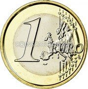Belgium 1 Euro KM# 301 Country Standart Coinage 1 EURO LL coin reverse