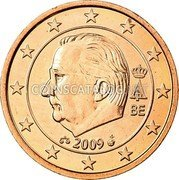 Belgium 1 Euro Cent KM# 295 Country Standart Coinage A II BE 2009 coin obverse