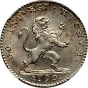 Belgium 1 Florin 1790 (b) KM# 49 Insurrection Coinage DOMINI EST REGNVM 1790 coin obverse