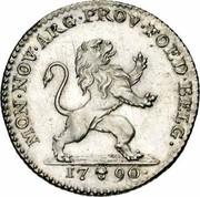 Belgium 1 Florin 1790 (b) KM# 48 Insurrection Coinage MON NOV ARG PROV FOED BELG 1790 coin obverse