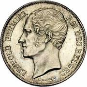 Belgium 1 Franc 1850 KM# 16.1 Decimal Coinage LEOPOLD PREMIER ROI DES BELGES L. WIENER coin obverse