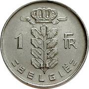 Belgium 1 Franc 1952 KM# 143.1 Decimal Coinage 1 FR BELGIË coin reverse