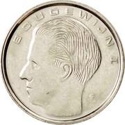 Belgium 1 Franc 1989 KM# 171 Decimal Coinage BOUDEWIJN I coin obverse