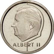Belgium 1 Franc Albert II 1995 KM# 188 ALBERT II coin obverse