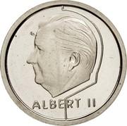 Belgium 1 Franc Albert II 1995 KM# 187 ALBERT II coin obverse