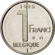Belgium 1 Franc Albert II 1995 KM# 187 1 FRANC BELGIQUE 1996 coin reverse