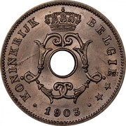 Belgium 10 Centimes 1903 KM# 53 Decimal Coinage KONINKRIJK BELGIË 1903 coin obverse