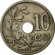 Belgium 10 Centimes 1905 KM# 52 Decimal Coinage 10 CES A.MICHAUX coin reverse