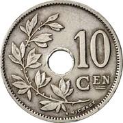 Belgium 10 Centimes 1926 KM# 86 Decimal Coinage 10 CEN A.MICHAUX coin reverse