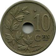Belgium 10 Centimes 1930 KM# 96 Decimal Coinage 10 CEN A.MICHAUX coin reverse
