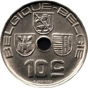 Belgium 10 Centimes 1938 KM# 112 Decimal Coinage BELGIQUE BELGIE 10C O.JESPERS coin obverse