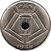Belgium 10 Centimes 1938 KM# 112 Decimal Coinage 1938 coin reverse