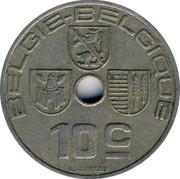 Belgium 10 Centimes 1939 KM# 113.2 Decimal Coinage BELGIE BELGIQUE 10C O.JESPERS coin obverse