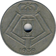 Belgium 10 Centimes 1939 KM# 113.2 Decimal Coinage 1939 coin reverse