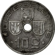 Belgium 10 Centimes 1941 KM# 126 Decimal Coinage BELGIE BELGIQU 10C O.JESPERS coin obverse