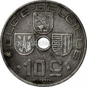 Belgium 10 Centimes 1941 KM# 126 Decimal Coinage coin reverse