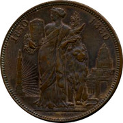 Belgium 10 Centimes 50 Years of Belgium 1880 UNC X# M8a 1850 1880 coin reverse