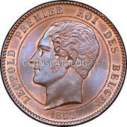 Belgium 10 Centimes (Marriage of Duke and Duchess of Brabant) X# 1.1 LEOPOLD PREMIER ROI DES BELGES 1853 coin reverse