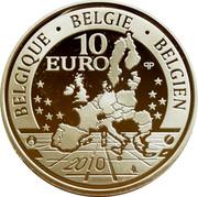 Belgium 10 Euro 100 Years African Museum 2010 KM# 291 BELGIQUE BELGIE BELGIEN 10 EURO 2010 coin obverse