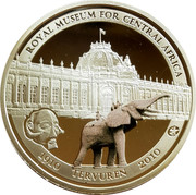 Belgium 10 Euro 100 Years African Museum 2010 KM# 291 ROYAL MUSEUM FOR CENTRAL AFRICA 1910 TERVUREN 2010 coin reverse