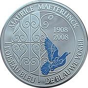 Belgium 10 Euro 100th anniversary of Maurice Maeterlinck's play 2008 Proof KM# 266 MAURICE MAETERLINCK € 1908 2008 L´OISEAU BLEU DE BLAUE VOGEL coin reverse