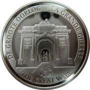 Belgium 10 Euro 100th Anniversary of the Start of the First World War 2014 Proof KM# 341 DE GROOTE OORLOG LA GRANDE GUERRE 14 - 18 THE GREAT WAR coin obverse