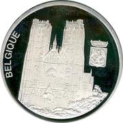 Belgium 10 Euro 1996 Proof Kingdom BELGIQUE coin reverse