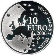 Belgium 10 Euro 400th Anniversary of the Death of Justus Lipsius 2006 Proof KM# 255 BELGIQUE BELGIE BELGIEN 10 EURO Q P 2006 coin obverse