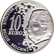 Belgium 10 Euro 50 Years North-South-way in Bruessels ND Proof KM# 233 10 EURO PP LL BELGIQUE BELGIE BELGIEN coin obverse