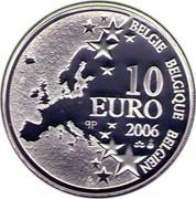 Belgium 10 Euro 50th Anniversary of Marcinelle Disaster 2006 Proof KM# 257 BELGIQUE BELGIE BELGIEN 10 EURO Q P 2006 coin obverse