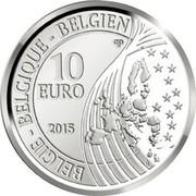 Belgium 10 Euro 70 Years of Peace in Europe 2015 Proof KM# 349 BELGIQUE BELGIE BELGIEN 10 EURO 2015 LL QP coin obverse